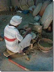 Skilled craftsmen working for Giriraj Prasad