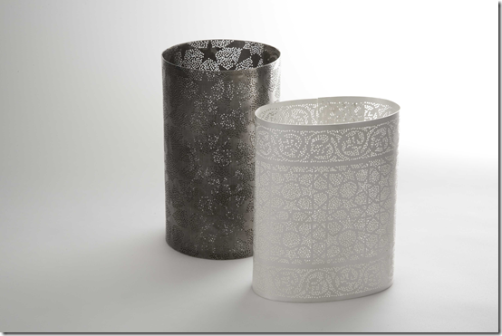 Marian Hosking vessels, silver, 2008