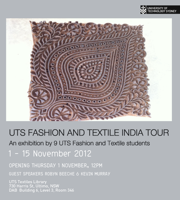 UTS Fashion and Textile India Tour Exhibition