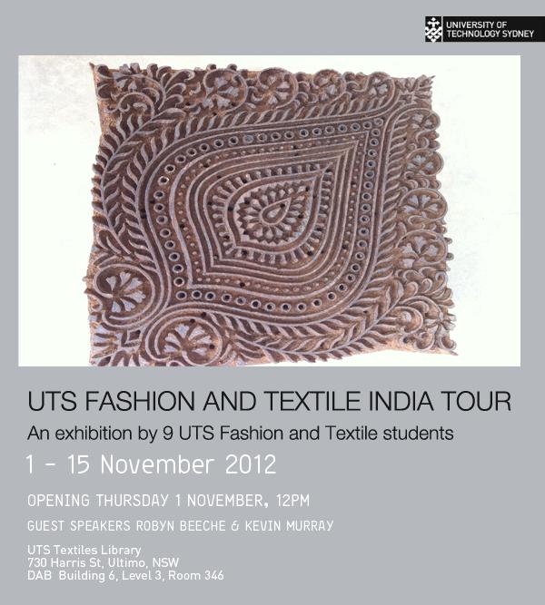UTS Fashion and Textile India Tour Exhibition