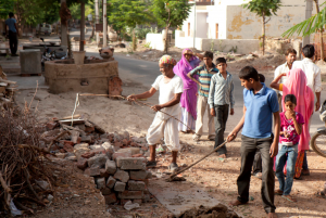 Finding a snake near Jumna's temple