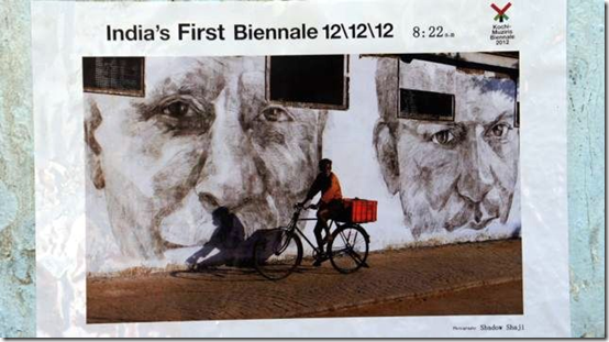 A poster created using images of Daniel Connell's work that appeared around Fort Kochi (from website)