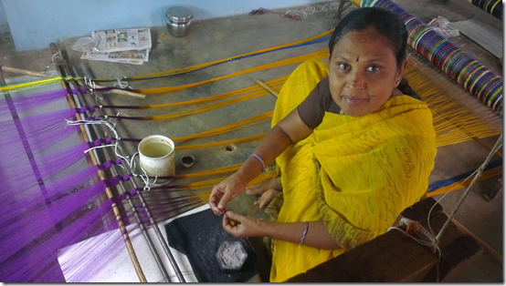 A handloom weaver from Yalahanka, Bangalore