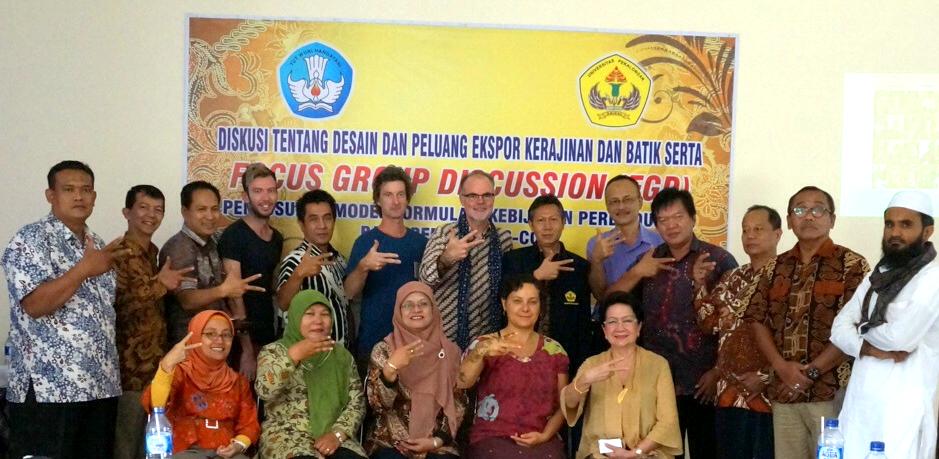 Batik design partnerships in Indonesia