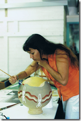 Koorie workshop decorating clay