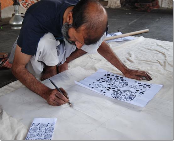Fayaz Ahmad the draftsman or 'naqash'