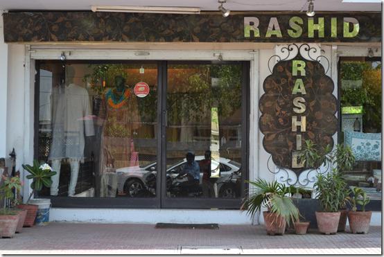 Rashid's store in Jaipur