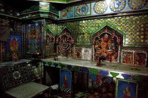 Jumna's plaques inside his temple