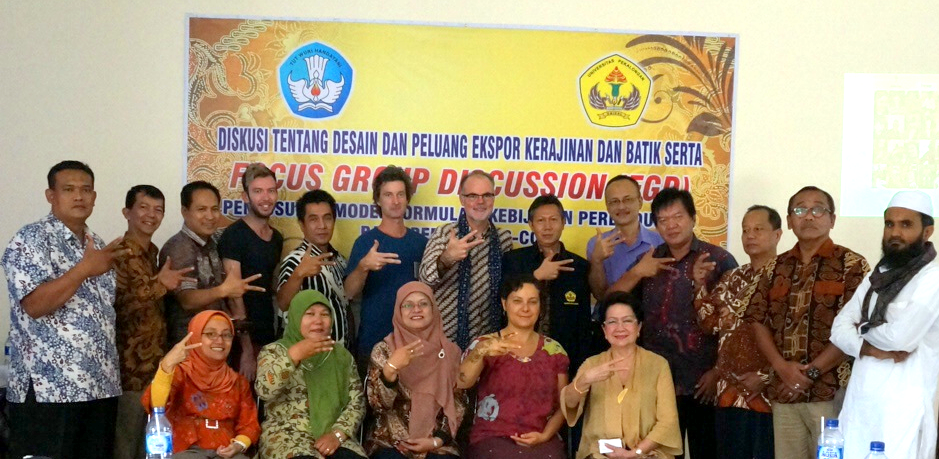 Batik design partnerships in Indonesia